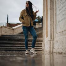 Regen auf der spanischen Treppe