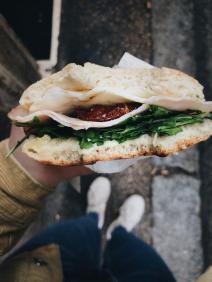 Das beste Sandwich, das ich je gegessen habe- frisch gemacht in einem kleinen, typisch italienischen Sandwichladen